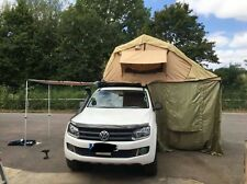 3 Man Roof Tent With Awning 75mm Mattress Stunning Complete With Ladder