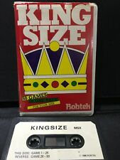 MSX Computer Game - KING SIZE (50 Games Cassette) - Rare, Working.