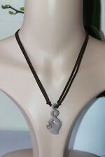 NATURAL AGATE INFINITY CHARM PENDANT HEALING CHAKRA REIKI ADJUSTABLE NECKLACE