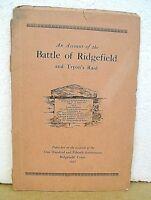 An Account of The Battle of Ridgefield & Tryon's Raid on Danbury 1927