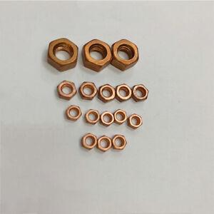 99.9% Pure Copper Cu Hex Nut Hexagon Nuts M4 M5 M6 M8 M10 M12 M14 M16 M18 M20