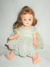"8"" doll..VINTAGE with ginger 1950'S . Tagged dress"