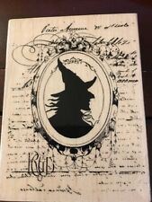 Halloween Witch Card Making Scrapbooking Wood Mounted Stamp 5  x 4  New