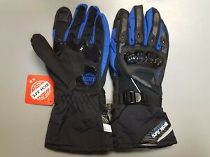 NEW Iron Jia's XXL WP02 Riding Gloves Black with Blue