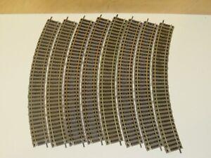 H0 Fleischmann 6125 Profi-Gleis 8 Stück Gebogen    1384