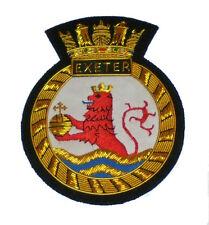 Britain British HMS Exeter UK Navy Cruiser Fleet Battle Plate Patch Ship Graf E