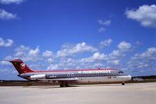 35mm Original aircraft slide Northwest Airlines Dc9 N3324L Jax Circa 1990s