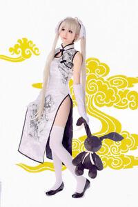 Anime Sora Kasugano Cosplay Yosuga No Sora Wig Clothing Dress Costume Cheongsam