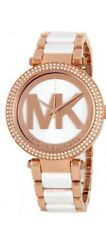 MICHAEL KORS MK6365 Parker Rose Gold Tone and White Acetate Ladies Wrist Watch