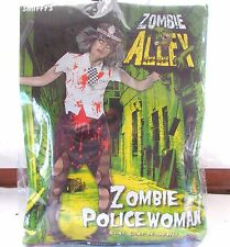 Smiffy's Zombie Police Woman Adult Costume Small  6 - 8 Zombie Alley