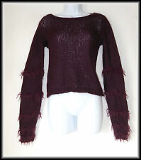 Stile Benetton Femme Mohair Mix Moelleux Pull Taille UK 8/10 Eur 36/38