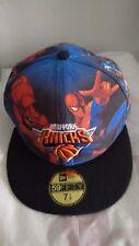 New Era Fitted Hat Cap NEW YORK KNICKS Avengers Spiderman Hulk Marvel NWT 7 1/8
