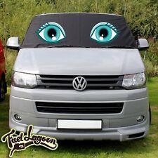 VW TRANSPORTER T5 Vitre protection écran ENVELOPPANT NOIR stores eyes