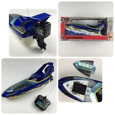 TYCO RC Sea Arrow Boat 6.0v Jet Turbo Nicd Black/Blue 2002 Mattel *Mint In Box*