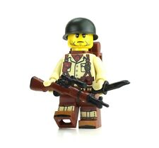 TAN WW2 Single Soldier US Army Minifigure made with real LEGO® minfigure