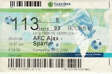 Billete-AFC Ajax V Esparta 05.03.06