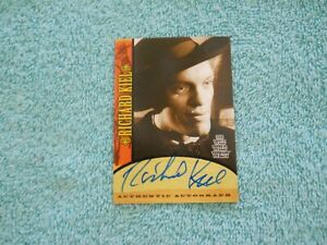 Autographed Card Of Richard Kiel As Voltaire On The Wild Wild West