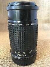SMC PENTAX-A 200mm f/4 Lens for 645 645N 645NII with Two Filters
