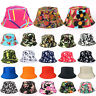 Mens Womens Floral Camo Bucket Boonie Hats Fishing Summer Outdoor Sun Beach Caps