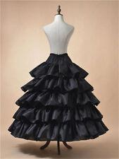 Hot 4 Hoop 5 Ruffles Petticoat Underskirt Wedding Bridal Crinoline Slip Skirts++