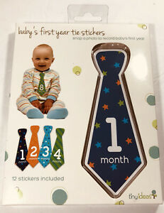 Baby's First Year Tie Stickers 12 Tie Stickers Included Tiny Ideas