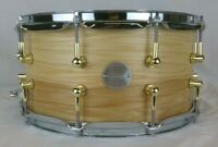 Click Drums 7x14 Hickory Snare Drum Natural Satin Oil Finish