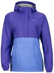 MARMOT Women's PreCip Windproof Anorak, Electric Purple/Lilac, size MEDIUM