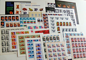 Four Sheets x 20 = 80 Assorted of Mixed Designs 37¢ US Postage Stamps FV $29.60