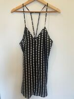 The Fifth Label Size Small Black White Dress Casual Strappy Shift Geometric