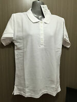 BNWT Ladies Sz 10 LW Reid Main Street Cotton Blend White Short Sleeve Polo Top