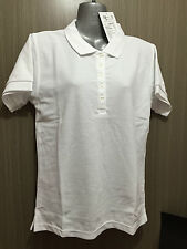 BNWT Ladies Sz 18 LW Reid Main Street Cotton Blend White Short Sleeve Polo Top