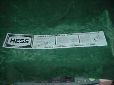 DIRECTIONS  HESS PARTS 1966 HESS  VOYAGER BATTERY CARD TOY TRUCKS  COLLECTIBLES
