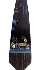 Men Silk Necktie Novelty Art Tie Gladiator Warrior Hand Painted