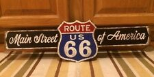 ROUTE 66 US ROAD HIGHWAY SHIELD TIN METAL BAR WALL DECOR U.S.A. GARAGE MAN CAVE