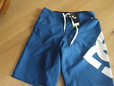 BNWT boys DC Blue Lanai Board style shorts age 10 years-waist approx 24 inches