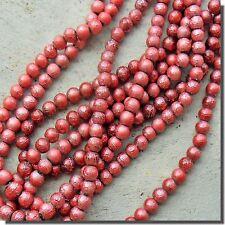 1 fil de 55 Perles de Verre vernies