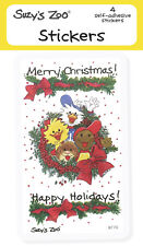 """Suzy's Zoo Stickers 4-pack, """"Merry Christmas!"""" 10143"""