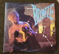 """Vintage 1983 David Bowie """"Let's Dance"""" LP - EMI Records (SO-517093) NM+"""