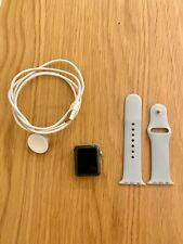 Apple Watch Series 2 38mm Stainless Steel Case w/ Light Blue Band