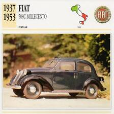 1937-1953 FIAT 508C MILLECENTO Classic Car Photograph / Information Maxi Card