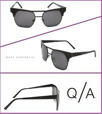 Quay Eyewear Australia Coolio Gun-metal Rectangular Sunglasses,Black,55 mm