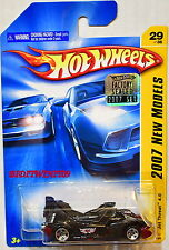 HOT WHEELS 2007 NEW MODELS JET THREAT 4.0 #29/36 BLACK FACTORY SEALED