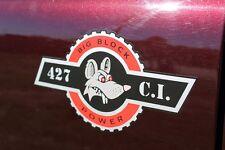 Custom 427 Big Block Power Decal Rod the Rat Hot Rod Sticker Emblem Pair Chevy