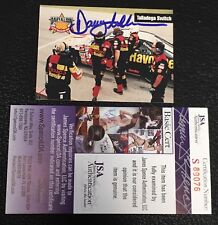 DAVEY ALLISON 1993 MAXX TEXACO RACING SIGNED AUTOGRAPHED CARD #18 JSA CERTIFIED