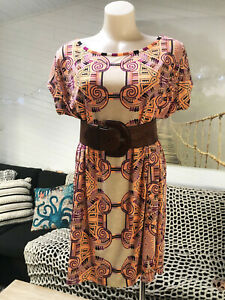 TIGERLILY Boho Hippy SUMMER TUNIC DRESS L 14 relaxed weekend beach party