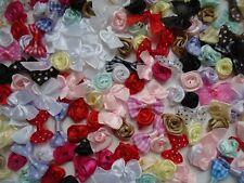 Gros lot(+ 150 Pcs) ,APPLIQUES noeuds papillon, rose .scrapbooking,couture.
