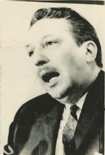 Lucien Cardin, canadian justice minister Vintage silver print Tirage argentiqu
