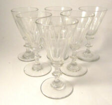 6 Antique Danish Holmegaard First Wine Service Anglais White Wine glasses 1853