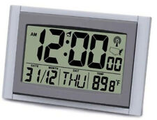 "Exclusive 2"" LCD Digital Atomic Time / Date / Temperature Desk Clock"