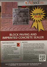Pattern Imprint Block Paving Concrete Sealer Premium S 20L